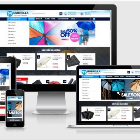Giới thiệu mẫu website bán hàng ô dù TD010