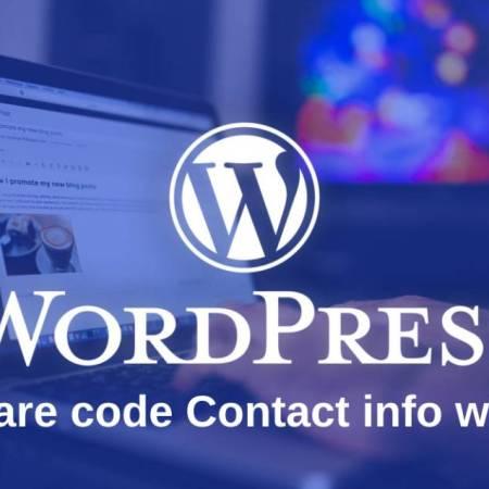 Share code contact info widget for wordpress